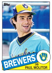 2013 Topps Archives Paul Molitor 1985