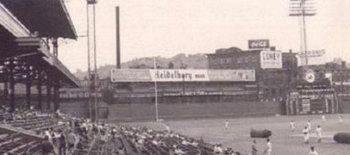 Crosley Field Heidelbergs sign
