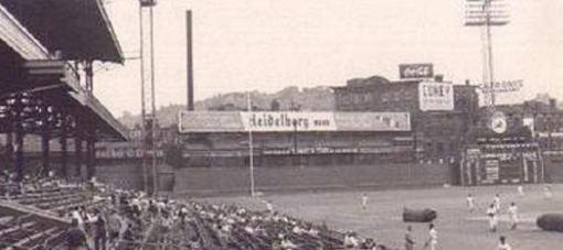 Crosley Field Heidelbergs sign