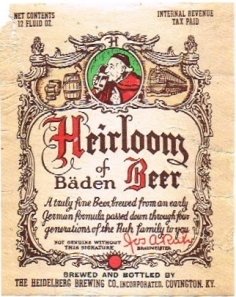 Heirloom beer label