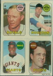 1969 Topps 4-in-1 Mays