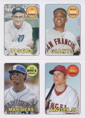 Archives 69 4-in-1 CF Mays Griffey Trout Cobb