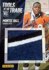 Montee Ball patch Panini national