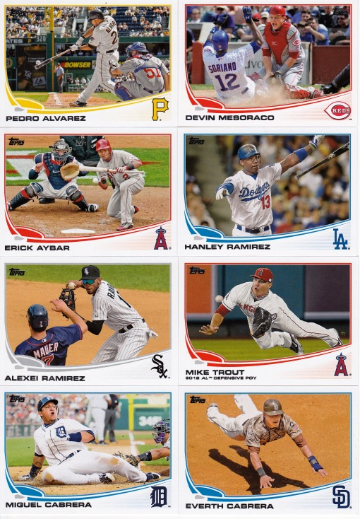 2013 Topps s2 base cards