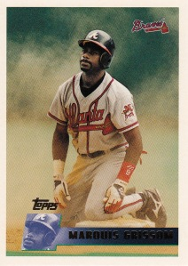 1996 Topps 297 Marquis Grissom best card