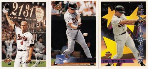 1996 Topps Ripken cards