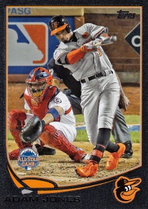 2013 Topps Update black Adam Jones