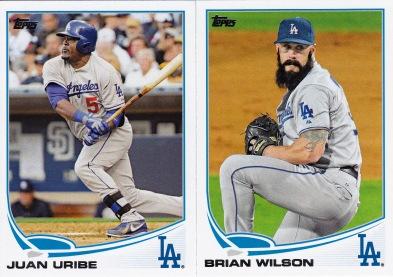 2013 Topps Update Dodgers Uribe Wilson