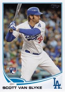 2013 Topps Update Dodgers Van Slyke