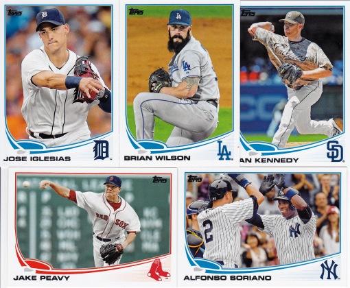 2013 Topps Update mid season trades