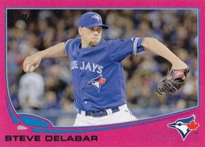 2013 Topps Update pink Steve Delabar
