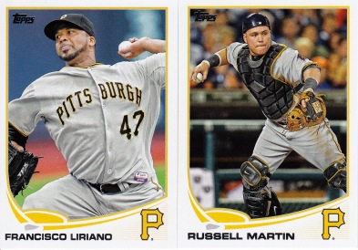 2013 Topps Update Pirates Liriano Martin