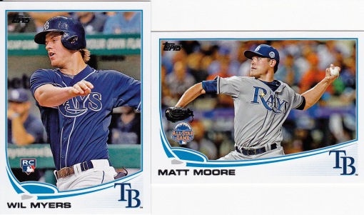 2013 Topps Update Rays Myers Moore
