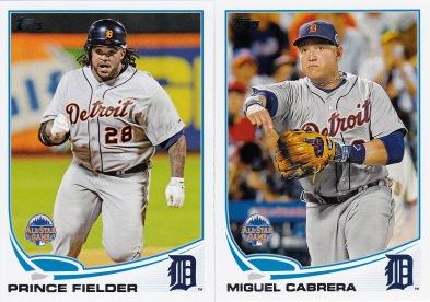 2013 Topps Update Tigers Fielder Cabrera