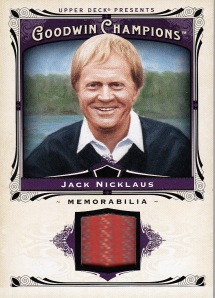 2013 Goodwin Nicklaus relic