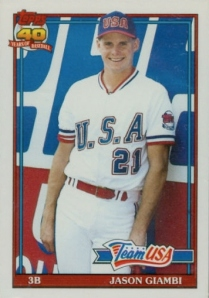 1991 Topps Traded Giambi RC