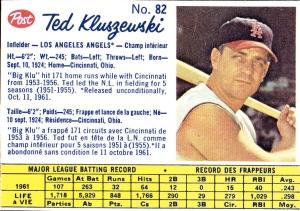 1962 Post Ted Kluszewski