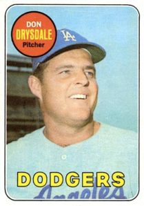 1969 topps don drysdale