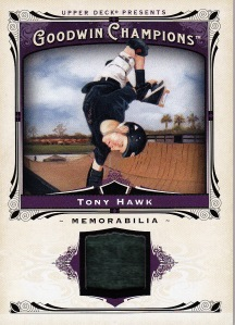 2013 Goodwin Champions box 2 Tony Hawk relic