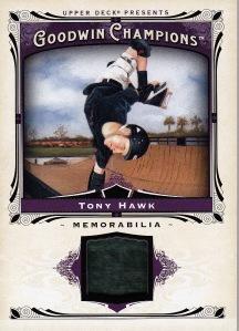 2013 Goodwin Champions box 2 Tony Hawk relic