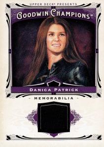 2013 Goodwin Champions box 3 Danica Patrick relic