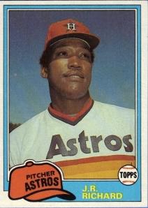 1981 topps JR Richard
