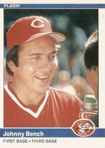 1984 Fleer Johnny Bench