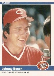 1984 Fleer Johnny Bench