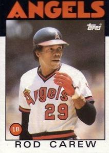 1986 Topps Rod Carew
