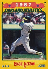 1988 Score Reggie Jackson