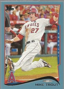 2014 Topps Blue Trout