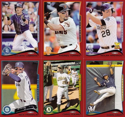 2014 Topps retail cards parallels target red