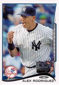 2014 Topps series 1 A Rod