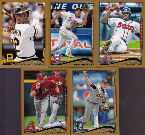2014 Topps series 1 HTA gold