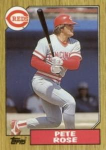 1987 Topps Pete Rose