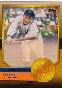 2012 Topps Golden Greats Cobb Triple Crown