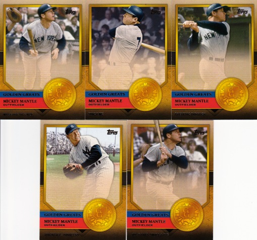 2012 Topps Golden Greats Mantles