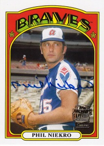 2014 Archives box 2 Fan Favorite Auto Niekro