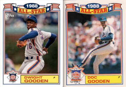2014 Archives 87AS comparison Dwight Gooden
