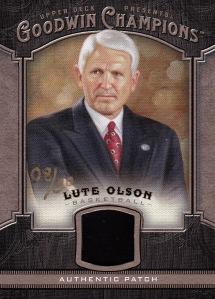 2014 Goodwin box 2 patch Lute Olson 50