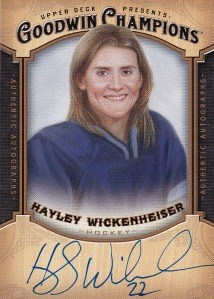 2014 Goodwin box 3 auto Hayley Wickenheiser