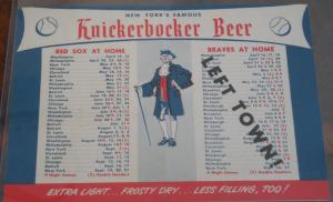 Knickerbocker Boston schedule