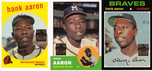 2000 Topps Aaron reprints s2 box