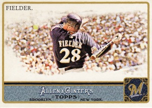 2011 Allen Ginter best action Prince Fielder