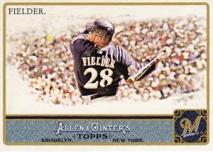 2011 Allen Ginter best action Prince Fielder