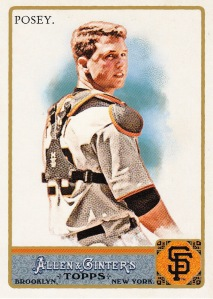 2011 Allen Ginter best non action Posey