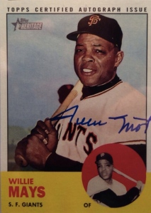 2012 Heritage Willie Mays Real One