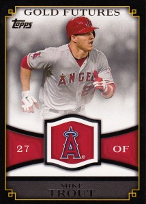 2012 Topps Gold Futures Trout