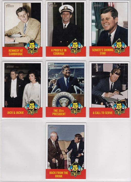 2012 Topps Heritage JFK Story