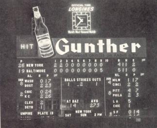 Gunther Beer Memorial Stadium ScoreBoard